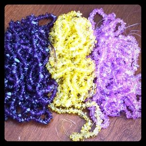 Beads multicolor purple,pink and yellow